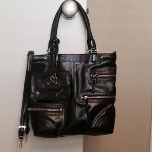 Brighton Kaelan Black Patent Handbag